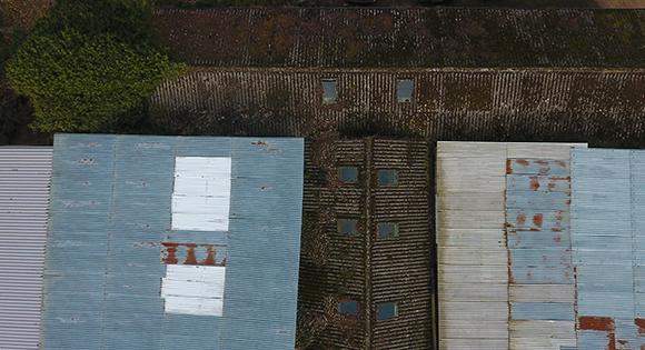 Metal Roof Drone Survey